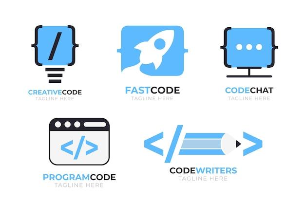 Modelos de logotipo de empresa de programação