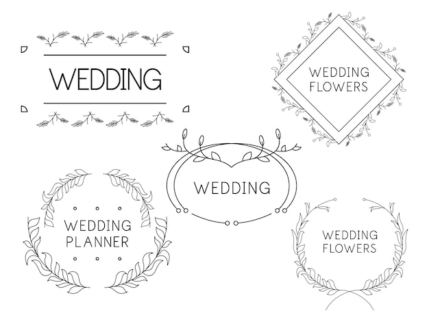 Modelos de logotipo de flor feminina planejador de casamento de florista