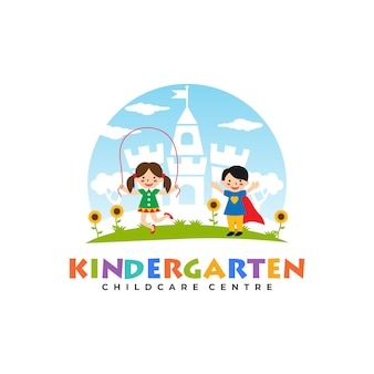 Modelos de logotipo de jardim de infância
