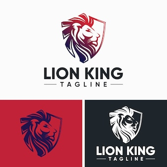 Modelos de logotipo de leão criativo