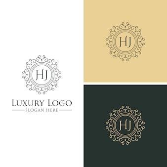 Modelos de logotipo de luxo