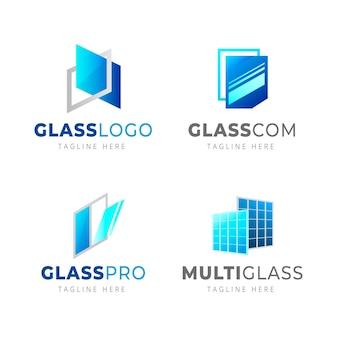 Modelos de logotipo de vidro gradiente