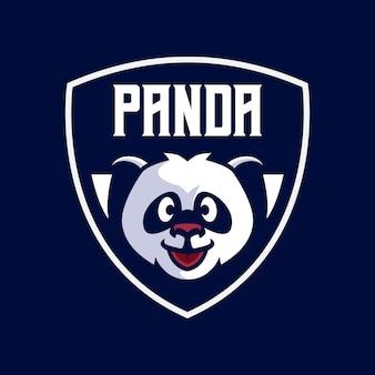 Modelos de logotipo do mascote da panda
