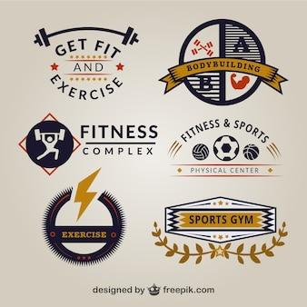 Modelos de logotipo ginásio retro