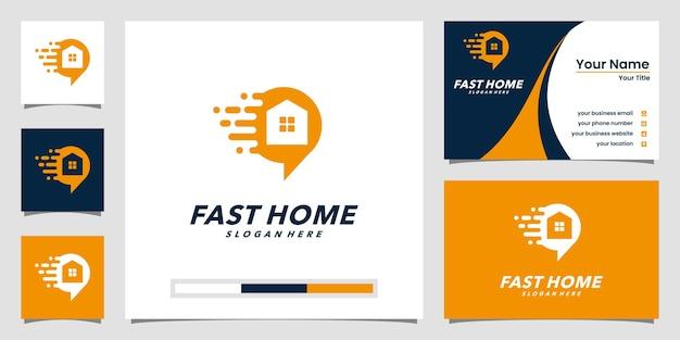 Modelos de logotipo online para casa e design de cartão de visita