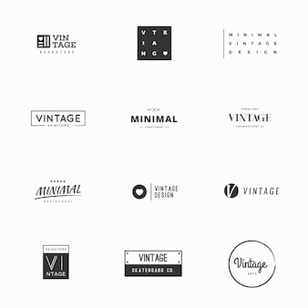 Modelos de logotipo vetorial vintage para design de marca