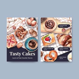 Modelos de menu de padaria