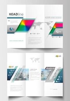 Modelos de negócios de brochura com três dobras