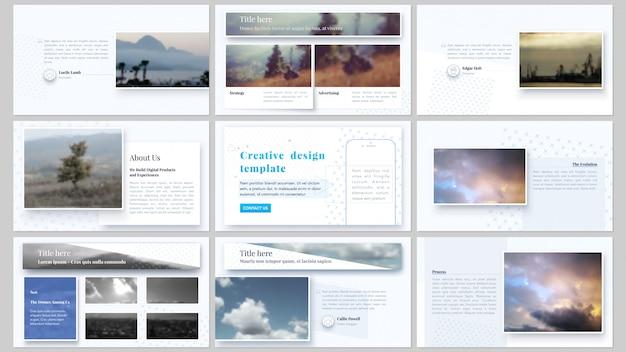 Modelos de negócios de slides de apresentação