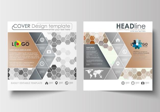 Modelos de negócios para brochura desenho quadrado, revista, folheto, livreto