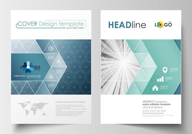 Modelos de negócios para brochura, folheto, livreto.