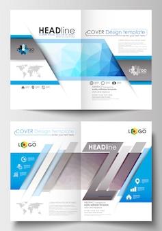 Modelos de negócios para brochura, folheto.