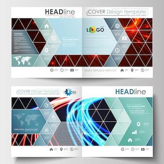 Modelos de negócios para brochura quadrada, folheto, livreto, relatório.