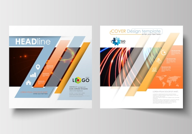 Modelos de negócios para brochura quadrada