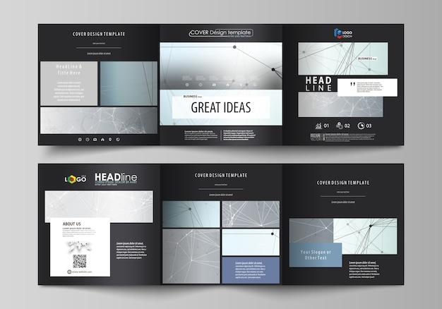 Modelos de negócios para brochuras quadradas com três dobras