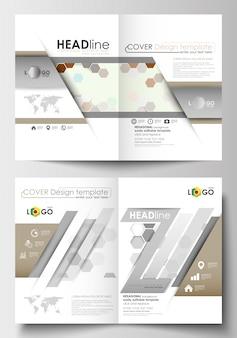 Modelos de negócios para folheto, revista, folheto, livreto ou relatório.