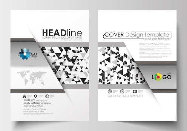 Modelos de negócios para folheto, revista, folheto, livreto, relatório.