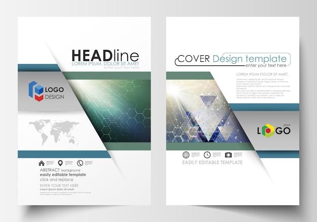 Modelos de negócios para folheto, revista, folheto, livreto, relatório