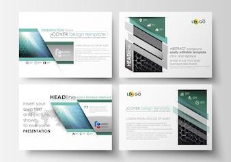 Modelos de negócios para slides de apresentação.