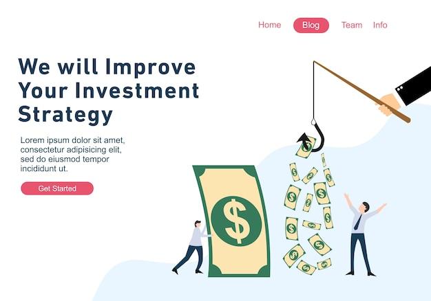 Modelos de página web de design plano de finanças