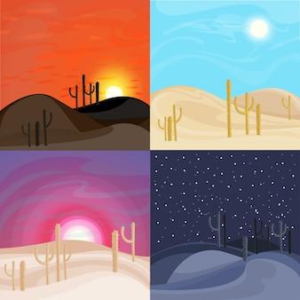 Modelos de paisagem de deserto de areia