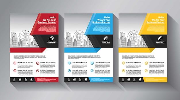 Modelos de panfleto de negócios