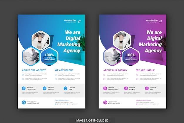Modelos de panfleto de promoção de negócios modernos e criativos