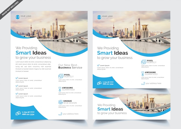 Modelos de panfleto e banner de negócios
