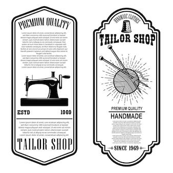 Modelos de panfletos de alfaiataria vintage