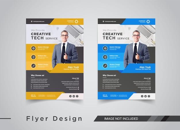 Modelos de panfletos de negócios de serviços técnicos