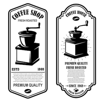 Modelos de panfletos vintage de cafeteria