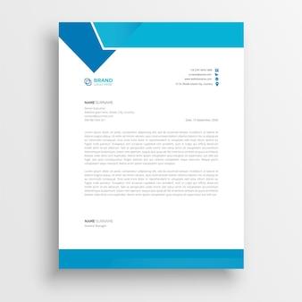 Modelos de papel timbrado de estilo empresarial para o design do seu projeto modelo de papel timbrado