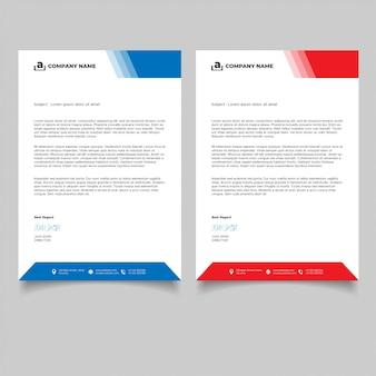 Modelos de papel timbrado para negócios de design minimalista