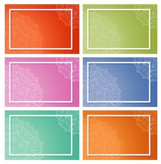 Modelos de plano de fundo com padrões de mandala