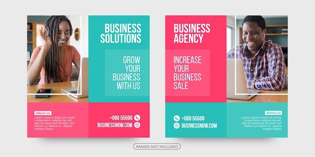 Modelos de postagem de mídia social de soluções de negócios criativos