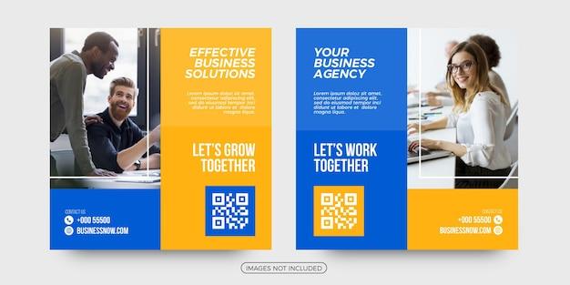 Modelos de postagem de mídia social de soluções empresariais modernas