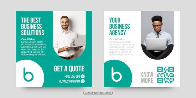 Modelos de postagem de mídia social para agência de negócios