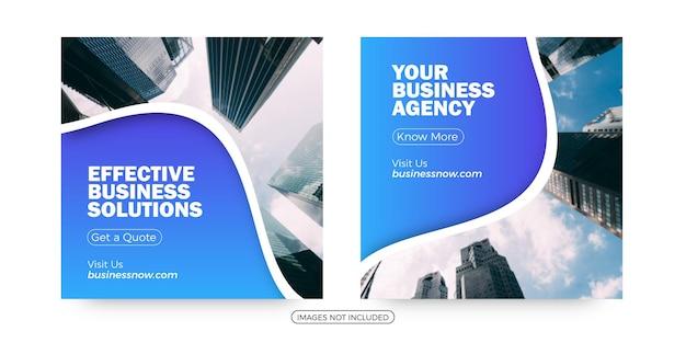 Modelos de postagem de mídia social para agências de negócios
