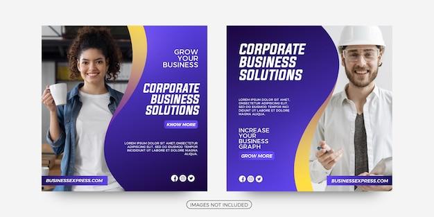 Modelos de postagem de mídia social para negócios corporativos