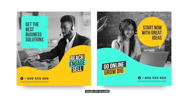 Modelos de postagem de mídia social para startups de soluções empresariais