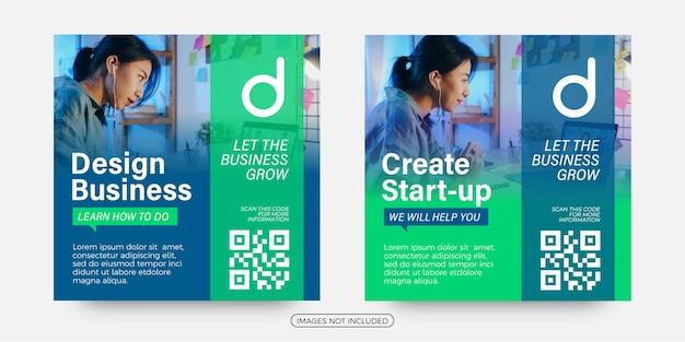Modelos de postagem de soluções de negócios em mídia social