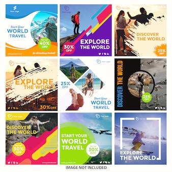 Modelos de postagem do instagram de viagem