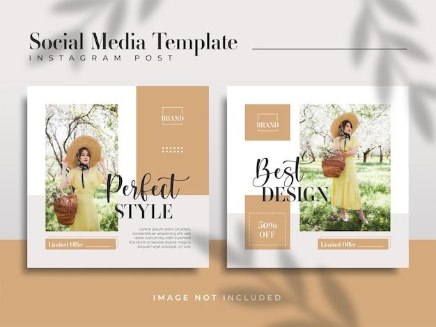 Modelos de postagem em mídia social para venda de moda