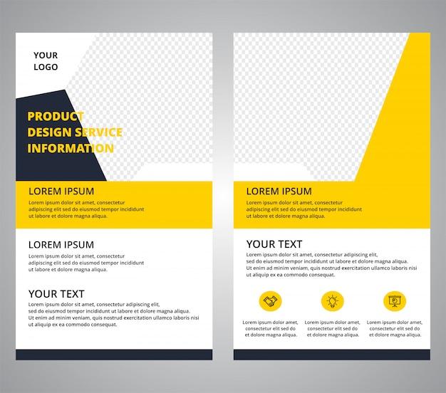 Modelos de projetos corporativos de folheto