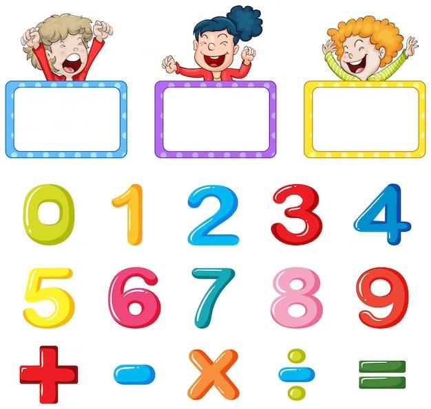 Modelos de quadro e números