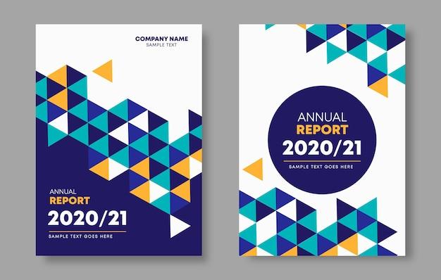 Modelos de relatório anual geométricos abstratos