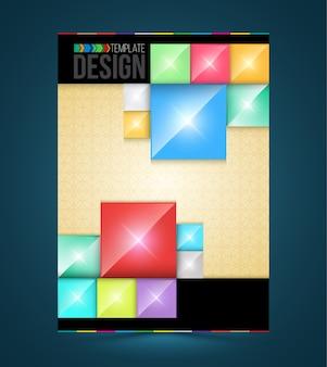 Modelos de retângulos de design de capa de brochura