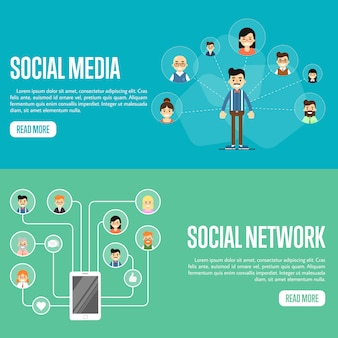 Modelos de site de rede de mídia social