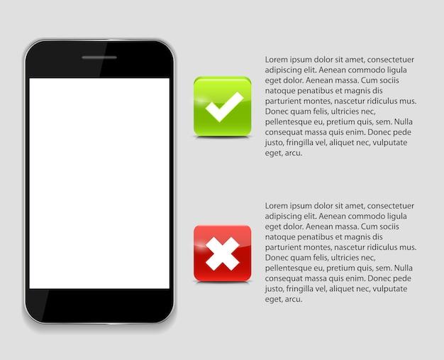 Modelos de telefone infográfico para ilustração vetorial de negócios. eps10
