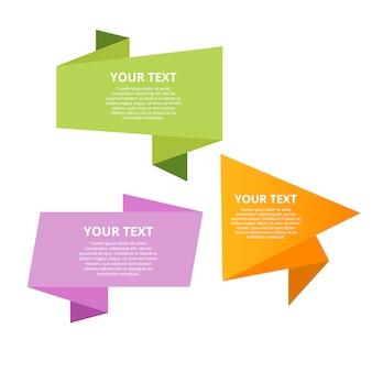 Modelos de texto de estilo origami de velocidade para banner
